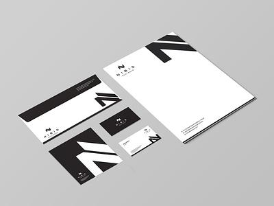 Nibis Stationary Designs minimalist creative design corporate brandidentity branding stationery modern elegant businesscard letterhead stationary design