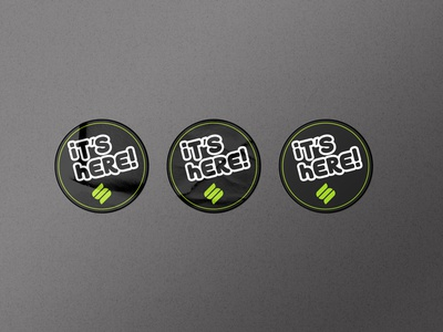 Flat Sticker Dezine minimal stickers attractive modern minimalist branding typography creative design