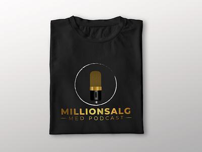 Millionsalg Logo Dezine millionare attractive elegant modern minimalist creative logo typography branding creative design