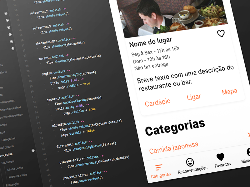 Desfomeando - Framer Prototype app design food app interaction design ux design ui design prototype framer