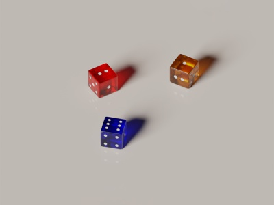 Some colorful dices render gaming colorful 3d art 3d blender illustration