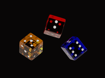 More colorfull dices gaming dribbble colorful render illustration blender 3d art 3d