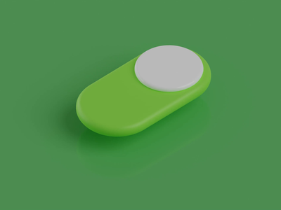 Switch animation motion graphic motiongraphics motion design motion blender3d green icon smooth interface ios animation 3danimation ui colorful dribbble render illustration blender 3d art 3d