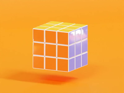 Rubik's Cube rubiks cube puzzle colorful retro gaming animation 3danimation render illustration blender 3d art 3d