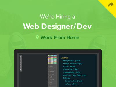 Hiring A Design Developer