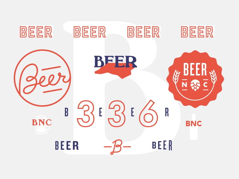 Beer Nc visual exploration north carolina type hand type typography beer mood board style brand illustration logo