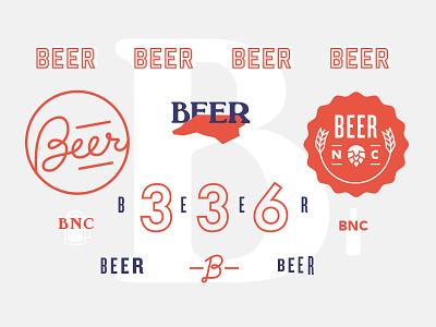 Beer Nc visual exploration north carolina type hand type typography beer mood board style brand illustration logo