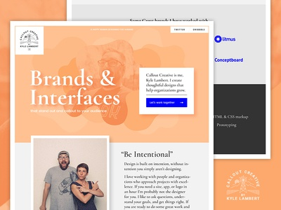Personal website redesigned  photography personal site ui web branding website