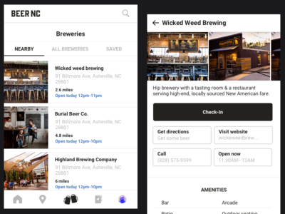 Beer NC App mobile app web design application icon illustration ux ui mobile app beer