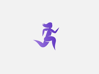 Running Woman brand the fit tutor health logo fitness icon woman running