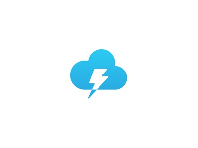 Lightning Cloud Chat Logo logo concept illustration icon chat logo cloud lightning