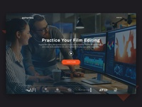Professional video editing (Landing Page #3)