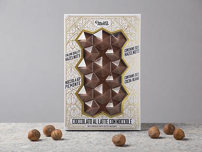 Meltz Chocolates hotstamping typography hazelnuts hazelnut foxtrot chocolate-design chocolates chocolate packaging-design packaging