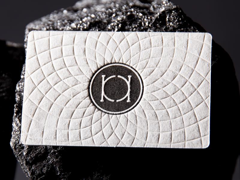 KK Business Card print monogram detail coal logo logodesign identitydesign bw letterpress foxtrotstudio branding businesscards