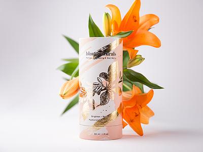 Blanc Naturals poland beauty tube foxtrot studio foxtrot foil gold skincare hotstamping label packagingdesign packaging