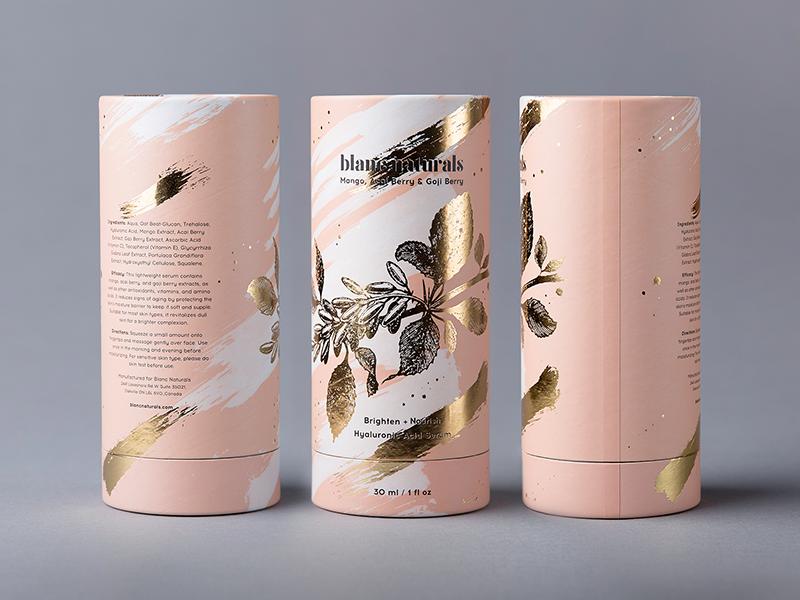 Blanc Naturals visualidentity tube skincare poland packagingdesign packaging label identity hotstamping gold foxtrotstudio foxtrot foil design branding beauty