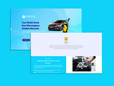 Car Wash website web ui ux design branding landing page design