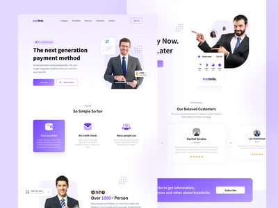 Payless - Payment Landing Page Exploration 💰 cards ui uidesign footer transaction simple payment app payments branding card blue landing page payment pay webdesign website web website design web design ui design ui