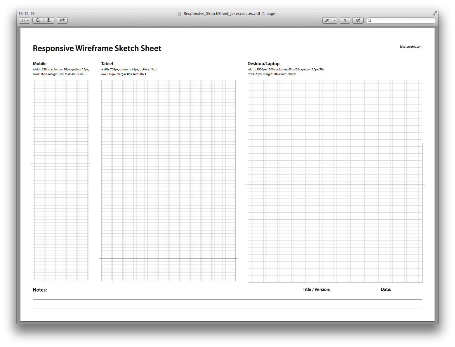Responsive Wireframe Sketch Sheet By David Jakes On Dribbble