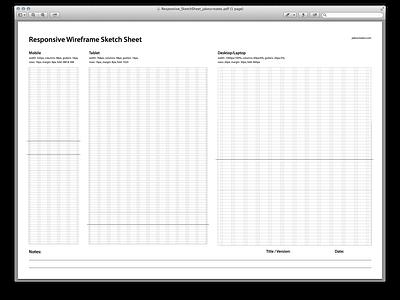 Responsive Wireframe Sketch Sheet wireframes responsive mobile tablet desktop ux ui sketch download free print psddd