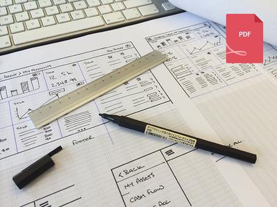 Responsive Wireframe Sketch Sheet