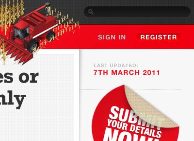 Farm Directory Concept web interface concept