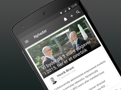 Grapevine android intranet android
