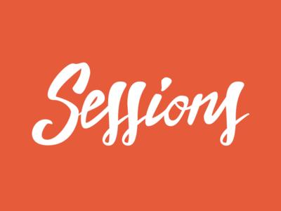 Sessions Lettering  vector brushlettering brush custom handtype lettering