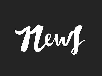 News vector brushlettering brush custom handtype lettering