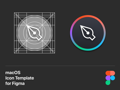 macOS Icon template for Figma grid figma template icons icon macos