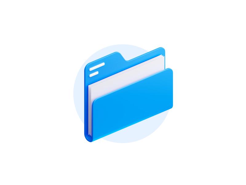 folder icon blender3d blender 3d paper folder empty state iconography icons illustration icon