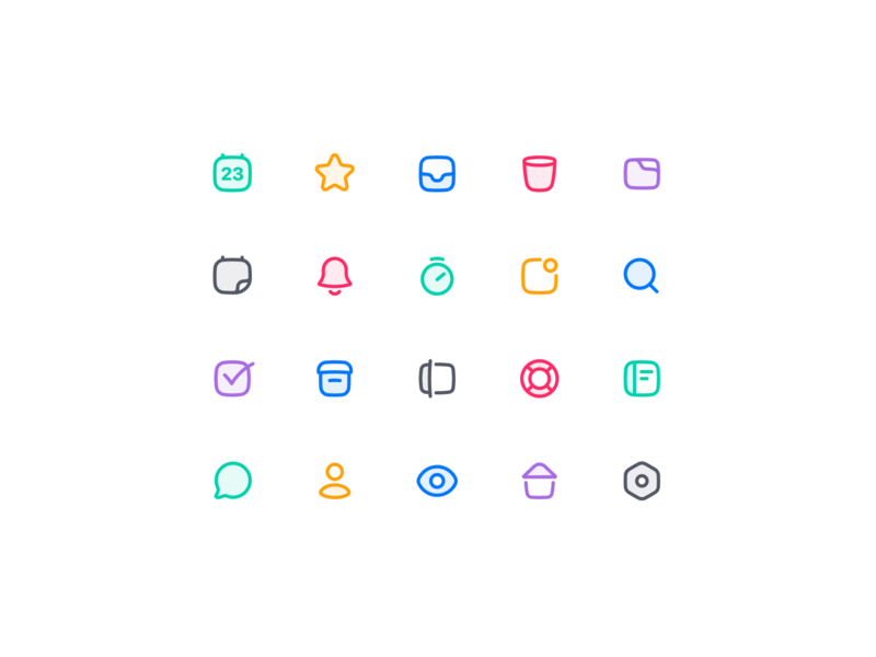 Check Icon Exploration calendar eye settings home user bubble box search clock bell folder trash inbox star icon design iconography iconset icons