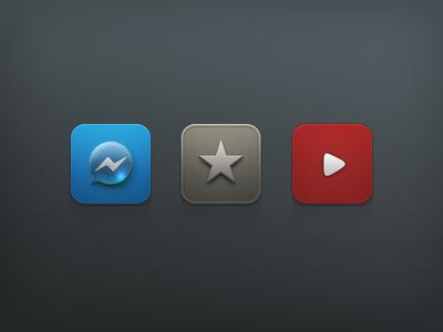 Motif - The New icon iconset theme jailbreak ios iphone messenger reeder youtube bubble play star