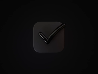 Check App Icon 3d animation motion light blender render 3d macos app icon icons iconography icon