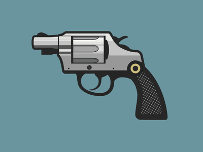 Cobra Colt vector illustration icon flat gun handgun colt pistol weapon