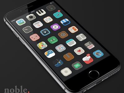 noble icons icon icons ios iphone theme illustration winterboard cydia ios8 flat