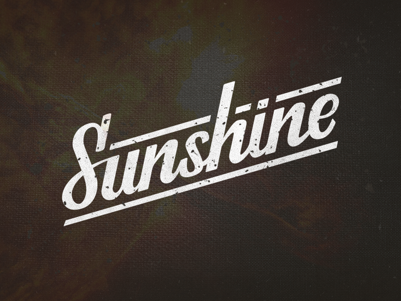 Sunshine type typo typography lettering logo letter mark brush sunshine