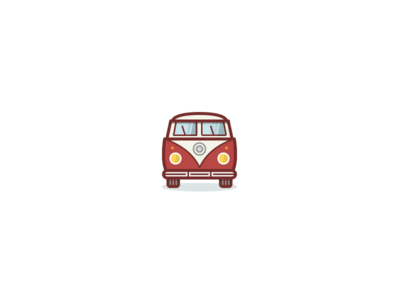 Car Icon / bulli bulli van vw car logo mark illustration iconography icons icon