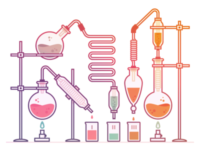 abstract science gradient chemistry science laboratory vector logo mark icon illustration