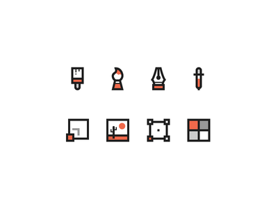 icons helllicht icon-set tools image picture pencil pen mark illustration iconography icons icon