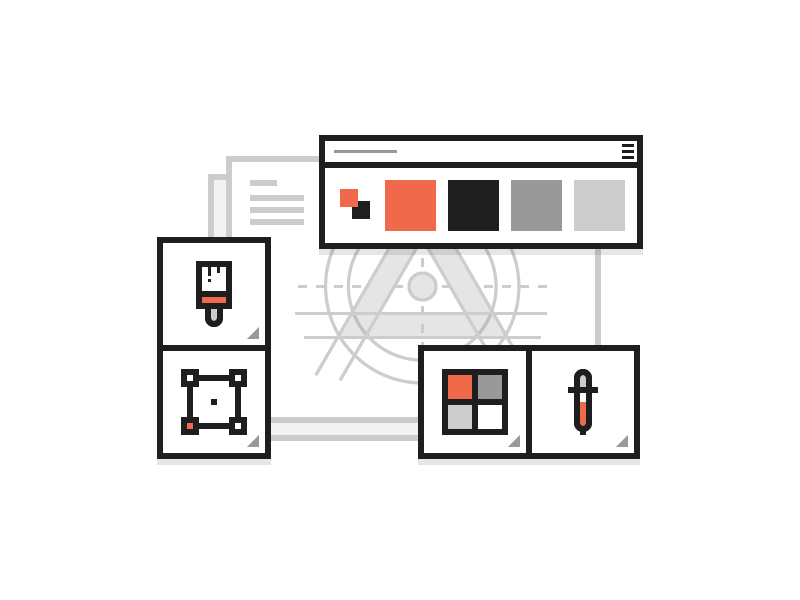 Design and Branding tools branding design outline vector icons iconography icon illustration