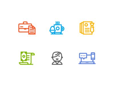 Category Icons breakfast taxes avatar money mark illustration iconography icons icon