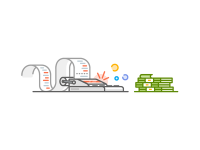 Taxfix Illustration taxes money calculator outline flat vector icons iconography icon illustration
