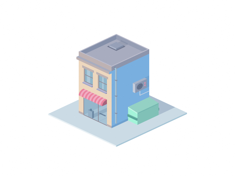 isometric house by martin david