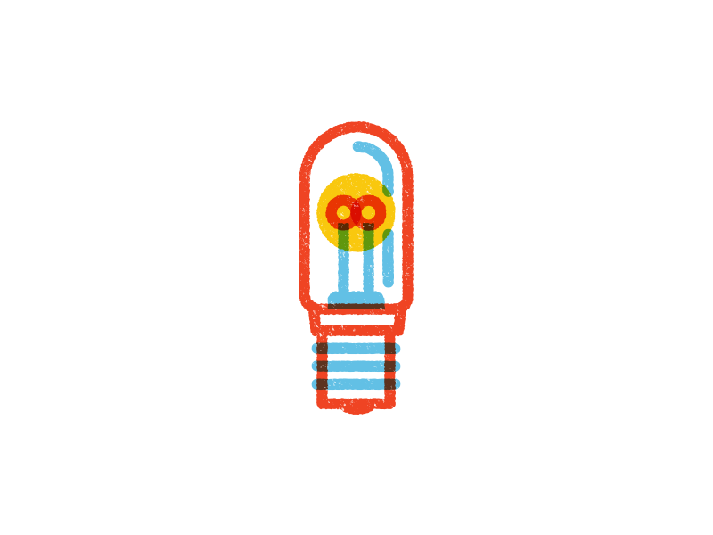 Blending And Texture light bulb idea texture blend outline vector icons iconography icon illustration