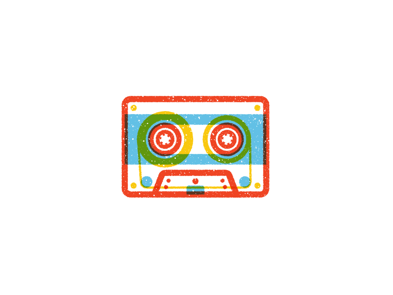 Tape multiply cassette tape outline flat vector icons iconography icon illustration