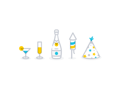 Party Essentials hat rocket essentials party line online icons iconography icon illustration