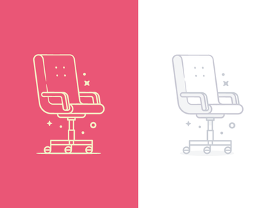 Chairs line office chair iconography illustration icon icons