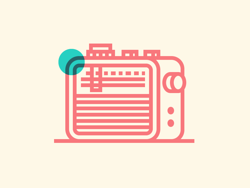 Radio multiply radio mark iconography illustration icon icons