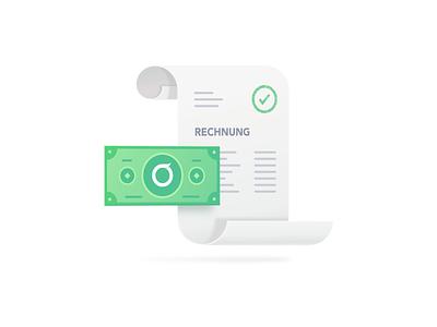 invoice illustration document dollar money invoice icons iconography icon illustration